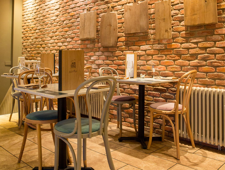 Interior of Pasta Di Piazza Stone