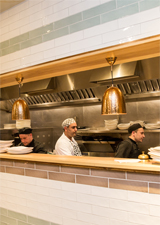 The open kitchen at Pasta Di Piazza, Stone